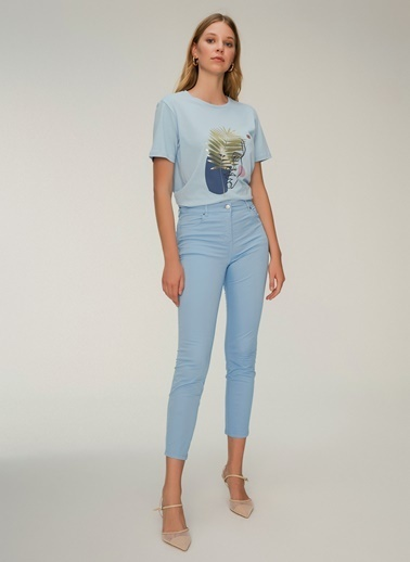 NGSTYLE Beş Cepli Skinny Pantolon Mavi